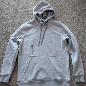 Basic Gray/Silver Pullover Hoodie By Under Armor